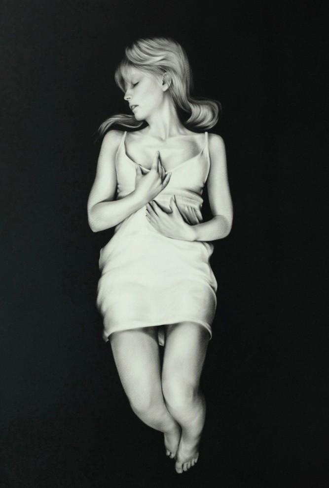 Jana Geilhof, Lost, Öl auf Papier. © Kuboshow Kunstmesse.
