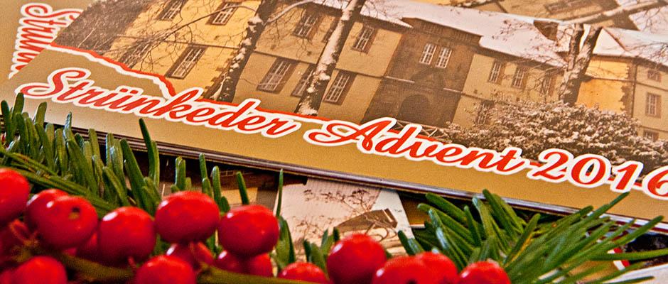 Cover des Strünkeder-Advent-Programms.