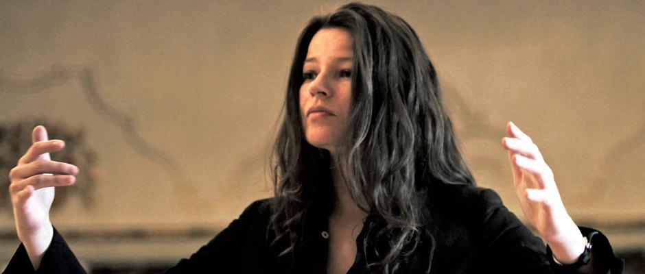 "Dorothee Oberlinger in ihrem Dirigierdebut bei Händels ""Lucio Cornelio Silla"". ©"