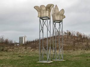 """Neue Arbeiten im Skulpturenpark: der """"Hochstand"""" von Gerda Schlembach. ©Thomas Schmidt, Stadt Herne"""