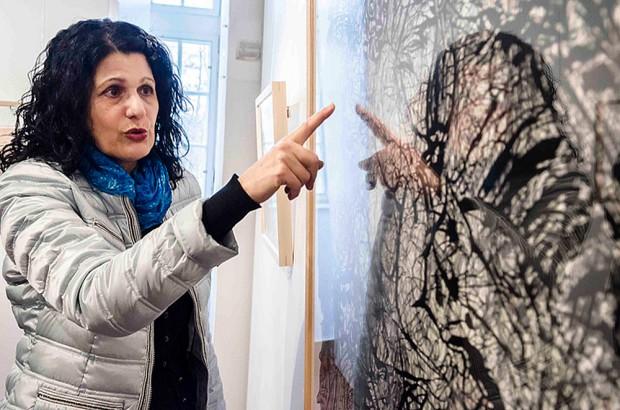 Pressegespräch zur Ausstellung im Schloss Strünkede. ©Thomas Schmidt, Stadt Herne