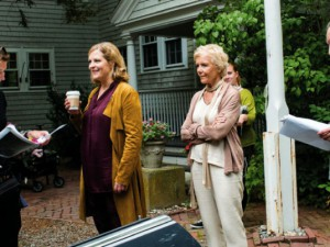 Bei der Textprobe mit Diana Amft, Angelika Thomas und Michael Mendl. © Rick Friedman