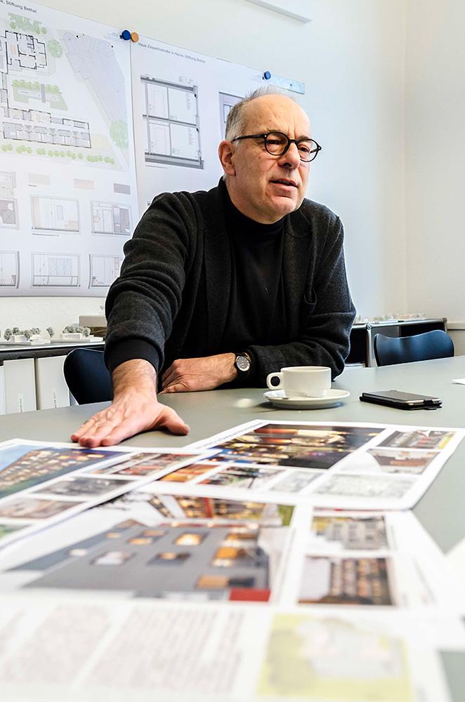 Architekt Norbert Post von den Dortmunder Stadtplanern Post&Welters. ©Thomas Schmidt, Stadt Herne