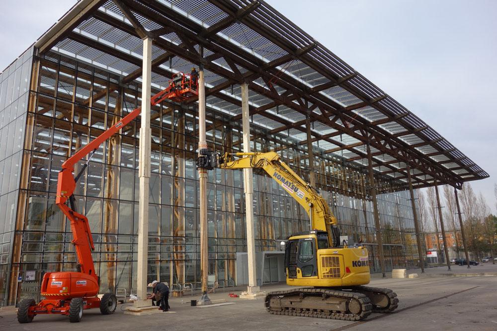Erneuerung der Vordachstützen. © Bau- und Liegenschaftsbetrieb NRW