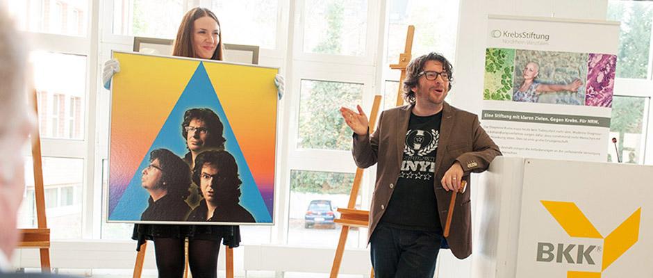 Hennes Bender ist Auktionator bei der BKK Kunstauktion.