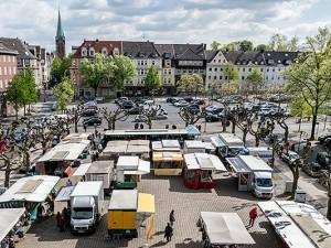 Der Wochenmarkt - jetzt kompakter. © Thomas Schmidt, Stadt Herne.