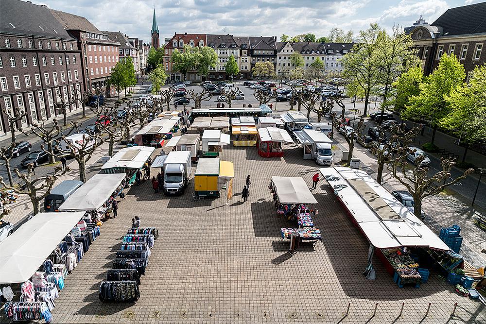 So macht Einkaufen Spaß: Wenn alles nah zusammen ist. © Thomas Schmidt, Stadt Herne.