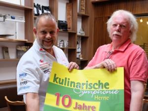 Frank Wiacker und Norbert Menzel laden zur zehnten Kulinarischen Symphonie ein. © Nina-Maria Haupt, Stadt Herne