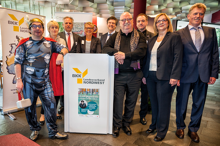 BKK Kunstauktion im Mondpalast in Herne zu Gunsten der KrebsStiftung Nordrhein-Westfalen