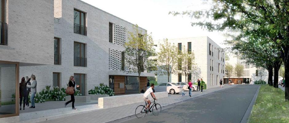 An der Augustastraße 4-22 sollen generationengerechte Wohnungen entstehen. Foto: Wohnungsverein Herne eG
