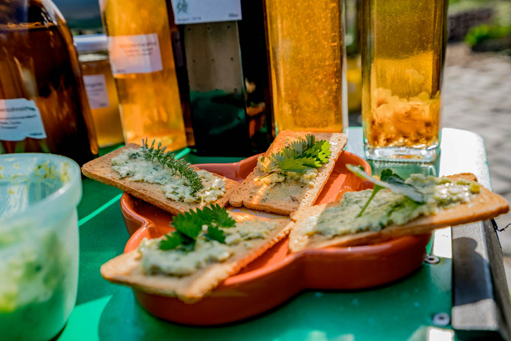 Anke Roßmannek verarbeitet das, was andere als Unkraut bezeichnen würden, zu Lebensmitteln. Eine Kostprobe gibt es bei ihren Wildkräuterführungen im Ruhrgebiet. © Frank Dieper, Stadt Herne.