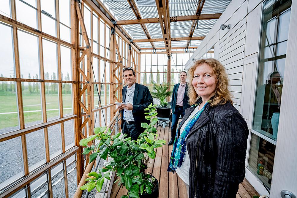 Annegret Schulte-Althoff, Chefin der Akademie mit inherne-Reakteur Horst Martens und Kulturmanager Martin Wirsdörfer. ©Frank Dieper, Stadt Herne