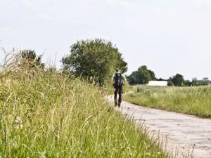 Christoph Hüsken bei einer Wanderung durch das ländliche Herne. ©Horst Martens, Stadt Herne.