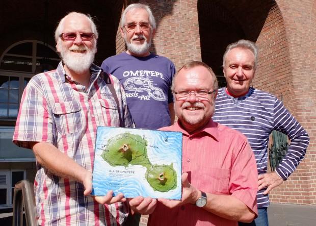 Wolfgang Honsberg, Josef Stromberg, Uwe Scholle und Udo Jakat. Foto: Michael Paternoga, Stadt Herne.