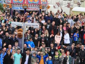 Mehr als 600 Kinder wurden zur Cranger Kirmes eingeladen. ©Nina-Maria Haupt, Stadt Herne