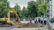 Mitarbeiter einer Spezialfirma haben eine Bombe aus dem Zweiten Weltkrieg in Wanne-Süd entdeckt. ©Frank Dieper, Stadt Herne