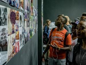 Die Teilnehmer der Summerschool präsentieren ihre Werke. © Frank Dieper, Stadt Herne
