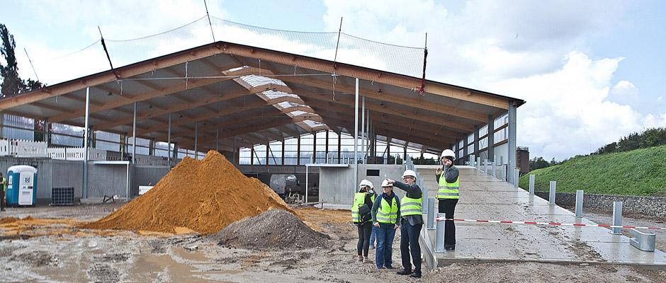 Presserundgang durch die Wertstoffhof-Baustelle. In einem Monat ist Erlebnistag. © Horst Martens, Stadt Herne.