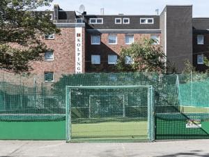 Das DFB-Kleinspielfeld folgt der Hauptschule zu deren neuen Standort. ©Thomas Schmidt, Stadt Herne