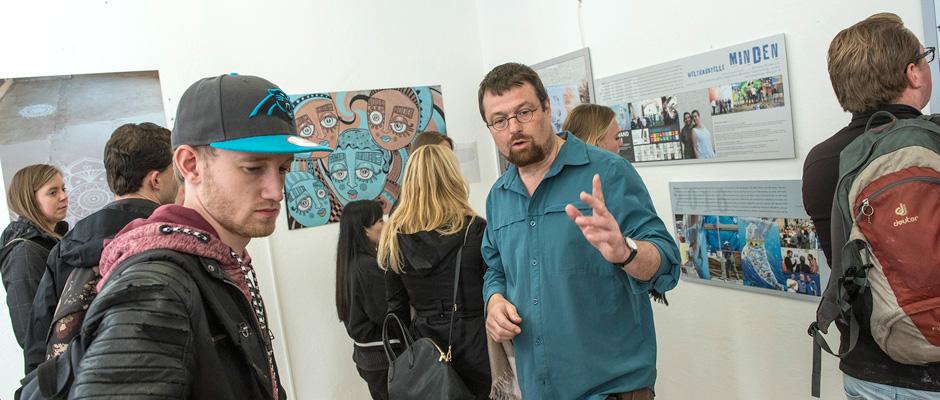 Studenten aus Utrecht besuchten das Kreativ.Quartier Wanne (Hallenbad) in der Heinestraße 1.