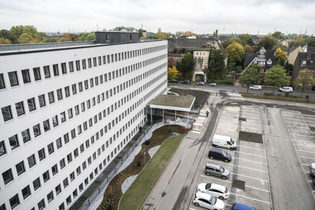 Der Blick auf Haus A vom Dach des Hauses B. ©Thomas Schmidt, Stadt Herne