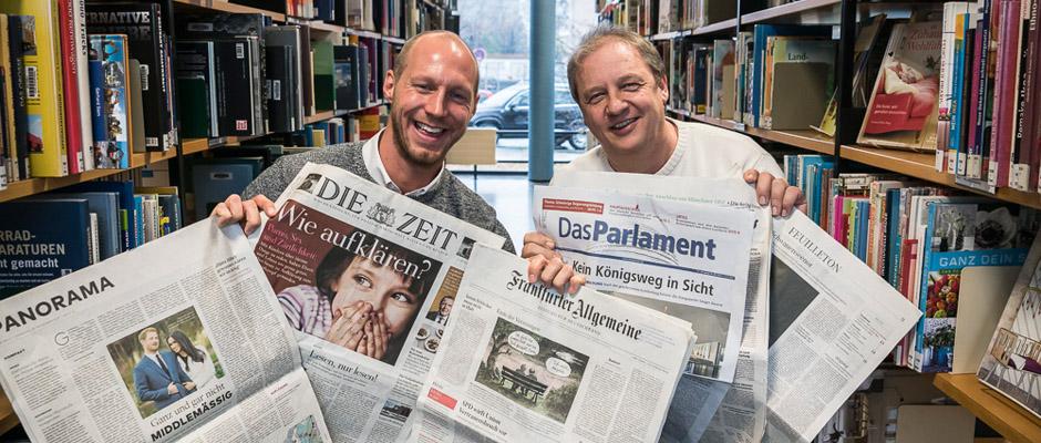 Klassisch mögen es Manfred Theisen und Jörg Heinrich. ©Thomas Schmidt, Stadt Herne.