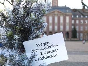 Die Rathäuser und die städtischen Verwaltungsgebäude sind zwischen Weihnachten und Neujahr geschlossen.