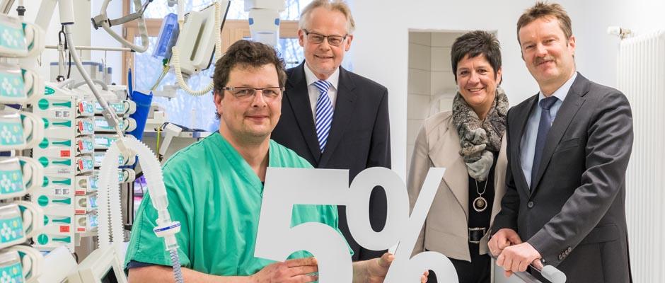 Fachpflegekräfte erhalten ab sofort 5% mehr Gehalt!