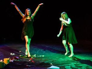 """Tanztheater """"Stückwerk"""" - Aufführung in der Künstlerzeche."""