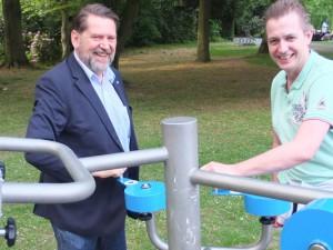 Martin Kortmann und Kai Gera in Aktion. Foto: Michael Paternoga, Stadt Herne