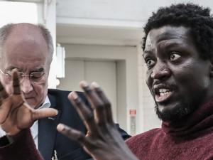 Ibrahim Mahama stellt sein Projekt Coal Market vor. ©Thomas Schmidt, Stadt Herne