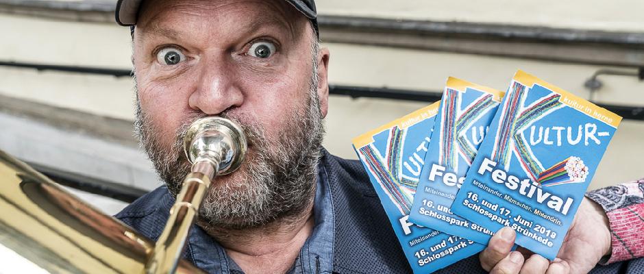 Christian Ribbe spielt beim Musikfestival nicht nur die Tuba. © Thomas_Schmidt_Stadt_Herne