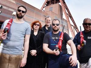 Das Abbruchhammerorchester: Tobias Hiller, Marjon Smit, Christof Schläger, Marc Grohmann und Frank Schwulst.