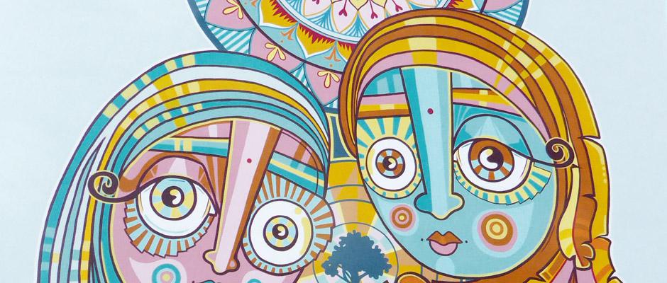 Teil eines Wandgemälde von Daniel Pulido Ortiz.