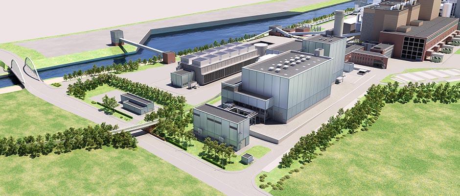 Modell des Gas- und Dampfturbinenkraftwerks. © STEAG