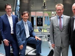 Bereit für die Zusammenarbeit: Dr. Jürgen Bock, Christoph Schulte-Kemper, Oberbürgermeister Dr. Frank Dudda, Dr. Jochen Handke und Hubert Schulte-Kemper.