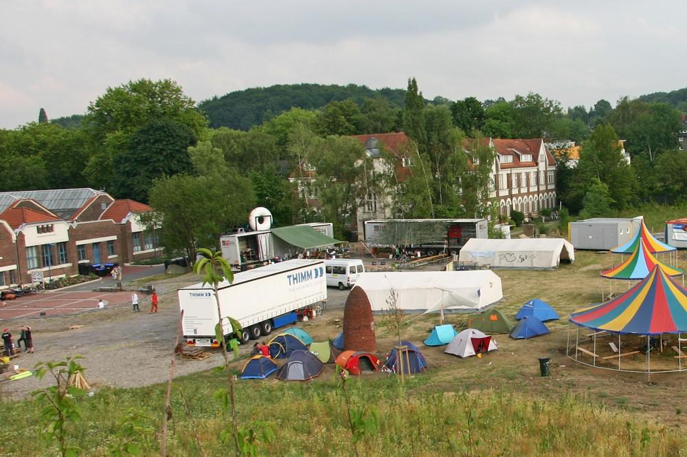 Eines der vergangenen Pottfiction-Camps bei den Flottmann-Hallen.