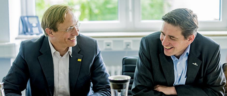 Ludger und Henrich Kleyboldt sind Unternehmer mit Gewissen. ©Frank Dieper, Stadt Herne.