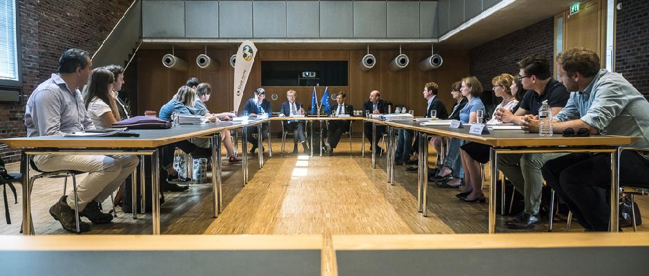 Pressekonferenz zum Projekt EYES, das am Montag, 9. Juli 2018, im LWL-Museum für Archäologie vorgestellt worden ist ©Thomas Schmidt, Stadt Herne