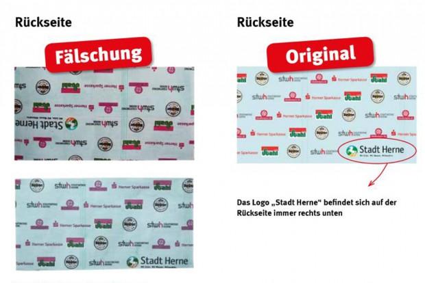 Original und Fälschung der Crangetaler ©Stadtmarketing Herne