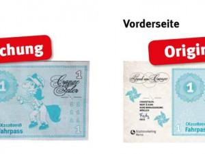 So sehen die gefälschten Crangetaler aus. ©Stadtmarketing Herne