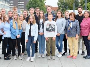 Jugendliche des KiJuPa und Schüler aus Belgorod treffen sich in Herne. ©Nina-Maria Haupt, Stadt Herne