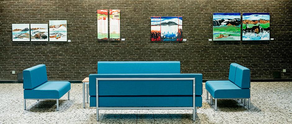 Island aus der Sicht von Dagmar Meiritz im Foyer der VHS-Galerie. ©Frank Dieper, Stadt Herne.
