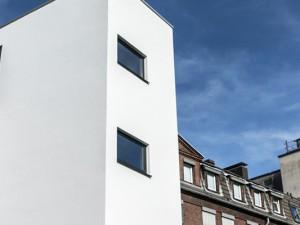 Der leuchtend weiße neue Anbau am Evangelischen Krankenhaus. ©Thomas Schmidt, Stadt Herne.
