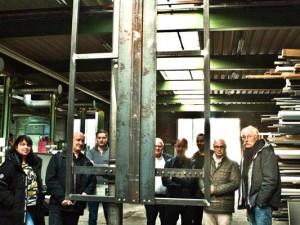 Die Konstruktionsexperten nehmen die Öffnungskonstruktion unter die Lupe. ©Horst Martens, Stadt Herne