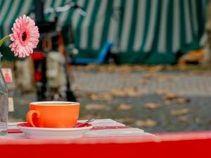 Der neue Kaffee-Stand auf dem Herner Wochenmarkt ©Frank Dieper, Stadt Herne