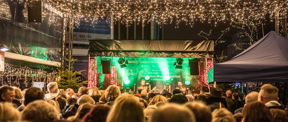 Party auf dem Herner Weihnachtsmarkt©Stadtmarketing Herne GmbH, Isabel Diekmann