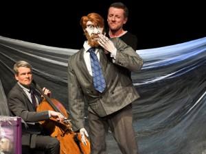 Schauspieler und Regisseur Sebastian Kautz sowie Musiker und Komponist Gero John. ©Marianne Menke.