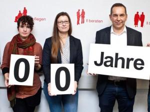Haben Jubiläumsveranstaltungen organisiert: Mechthild Greifenberg, Ronja Harder, Anja Hempel, Ansgar Montag und Bernd Zerbe. ©Horst Martens, Stadt Herne