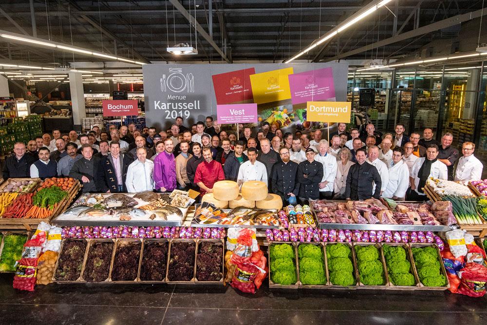 BZ: Menü Karussel 2019 Gruppenbild teilnehmende Gastronomen & Köche am 23.01.2019 Foto: Arne Pöhnert mail@arnepoehnert.de 0178/1866645